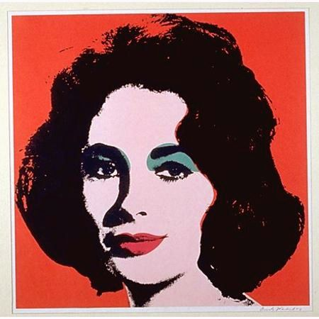 Sérigraphie Warhol - Liz (II.7)