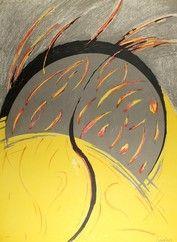 Lithographie Miralles - Llamas / Flames