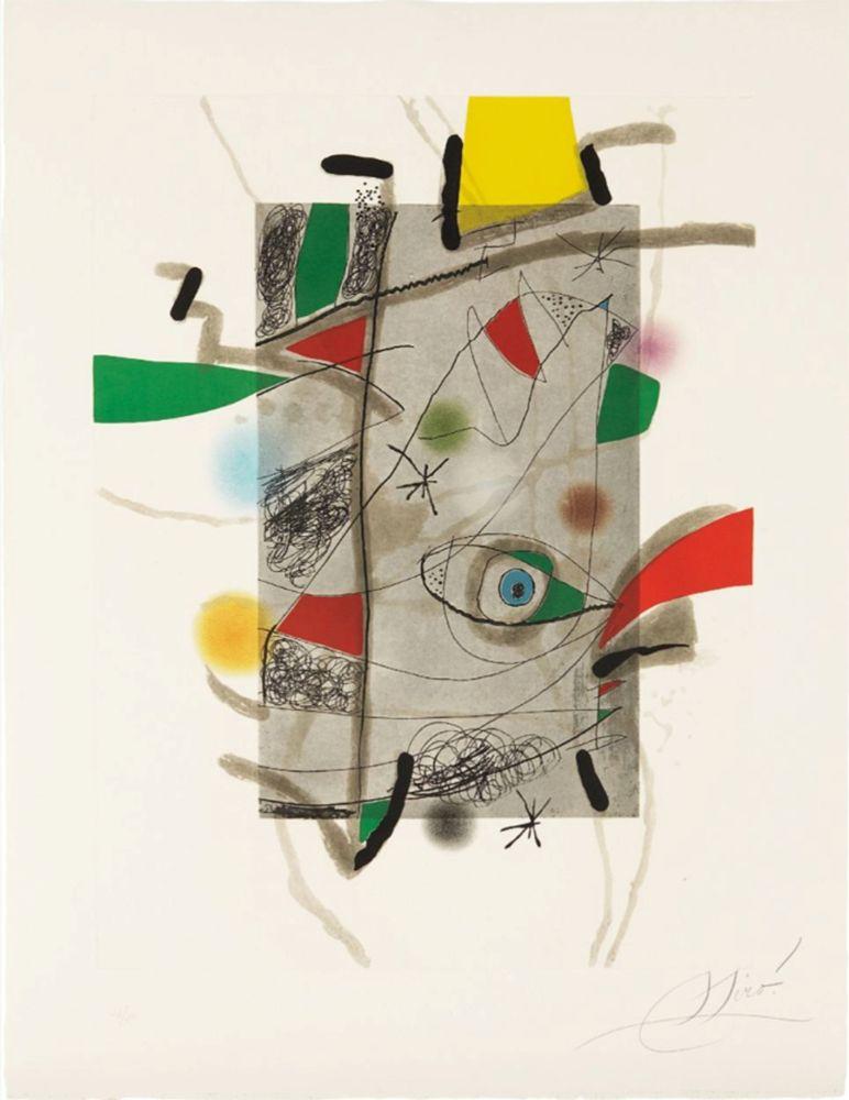 Eau-Forte Et Aquatinte Miró - Llibre dels sis Sentis, III