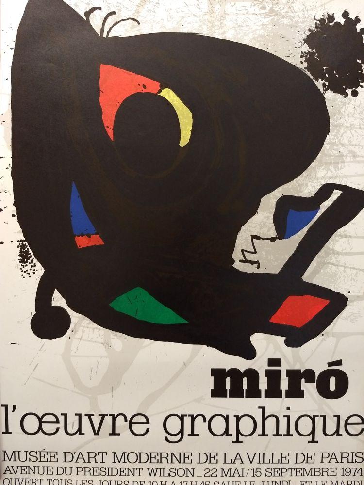 Affiche Miró - L'oeuvre graphique