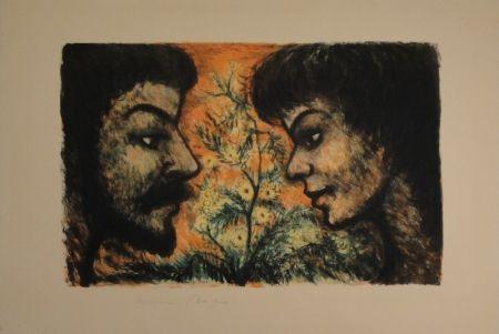 Lithographie Goerg - L'Offrande