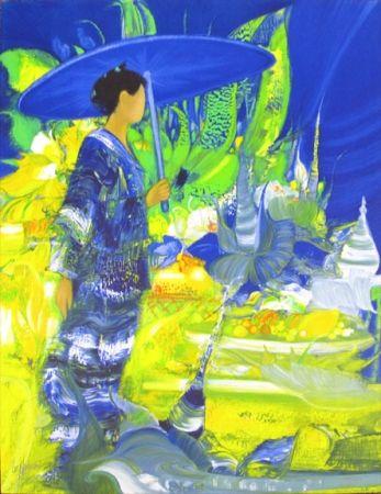 Lithographie Lenalbaut - L'Offrande a L'Ete