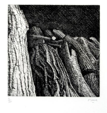 Gravure Moore - Log Pile II