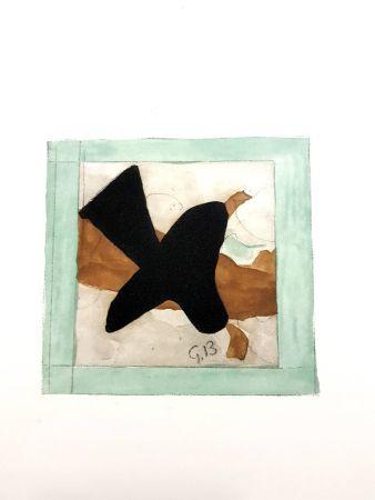 Lithographie Braque - L'oiseau