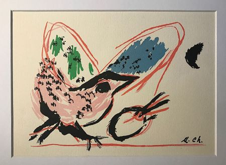 Lithographie Chagall (After) - L'Oiseau