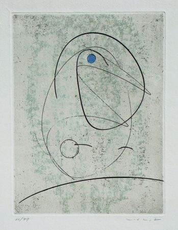 Eau-Forte Ernst - L'oiseau Bleu