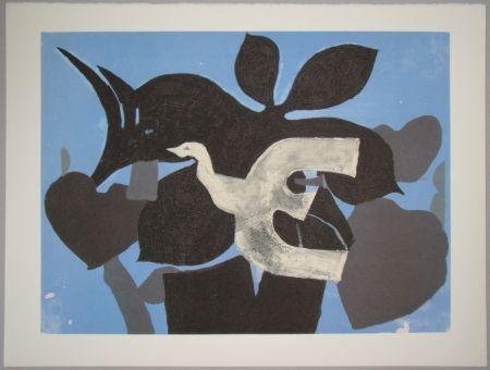Lithographie Braque - L'oiseau dans le paulownia