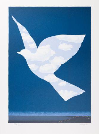 Lithographie Magritte - L'Oiseau de Ciel (The Sky Bird)
