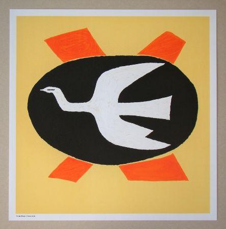 Lithographie Braque (After) - L'oiseau de feu, 1958