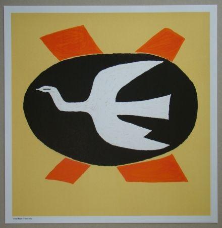 Lithographie Braque - L'oiseau de feu, 1958