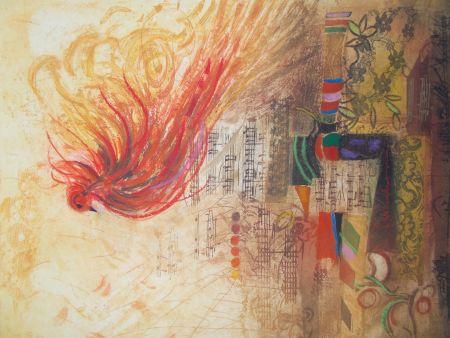Gravure Engel - L'oiseau de feu II
