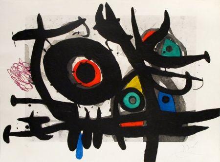 Gravure Miró - L'oiseau Destructeur