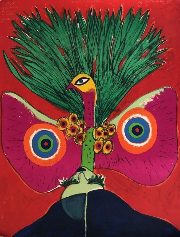 Lithographie Corneille - L'oiseau papillon