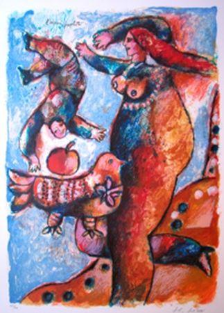 Lithographie Tobiasse - L'Oiseau Prophete