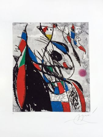 Eau-Forte Et Aquatinte Miró - L'Oiseleur et sa Compagne