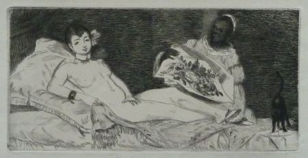 Gravure Manet -  	L`Olympia