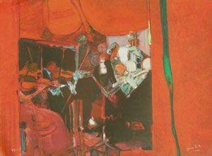Lithographie Ambille - L'orchestre