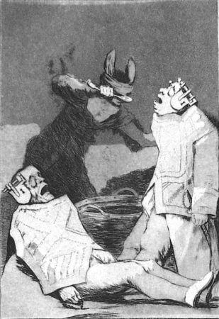 Eau-Forte Et Aquatinte Goya - Los chinchillas