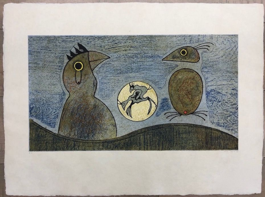 Eau-Forte Ernst - Los Pájaros