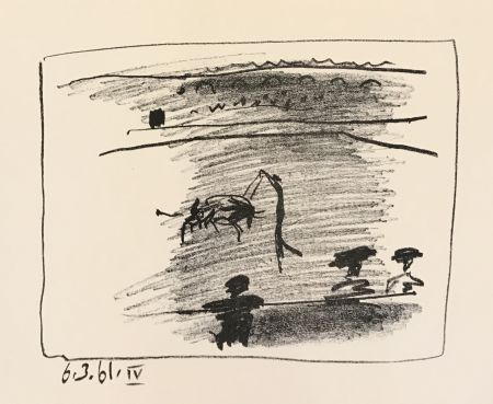 Lithographie Picasso - Los Toros – Les Banderilles (B.1016)