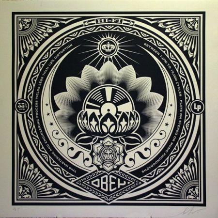 Sérigraphie Fairey - Lotus Album, Large Format