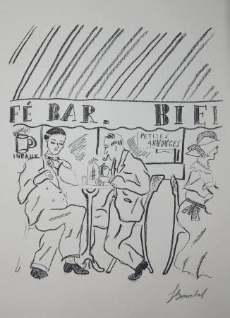 Gravure Bonabel - Louis-Ferdinand Céline - Gravure Originale - Voyage au Bout de la Nuit