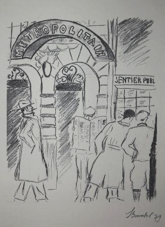 Gravure Bonabel - Louis-Ferdinand Céline - Gravure Originale