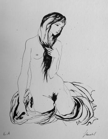 Lithographie Bonabel - Louis-Ferdinand Céline - LA DANSEUSE NUE / THE NUDE DANCER  - 1944