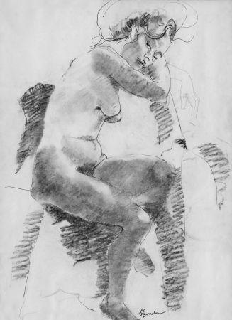 Lithographie Bonabel - Louis-Ferdinand Céline - Litographie Originale / Original Lithograph - Autoportrait/Self-portrait - 1958