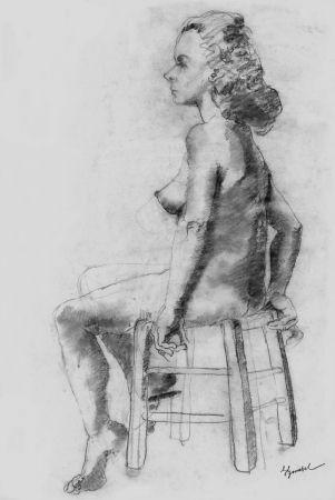 Lithographie Bonabel - Louis-Ferdinand Céline - Litographie Originale / Original Lithograph - Nu Feminin / Female Nude - 1938