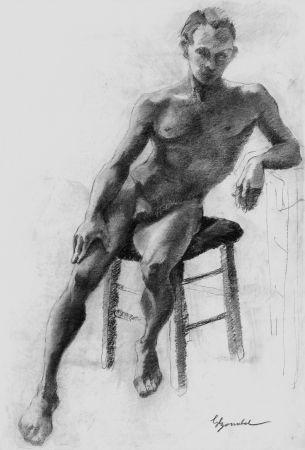 Lithographie Bonabel - Louis-Ferdinand Céline - Litographie Originale / Original Lithograph - Nu Masculin / Male Nude 1938