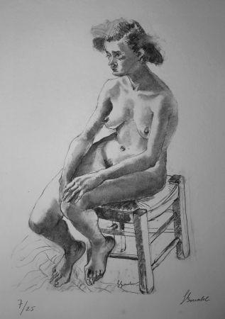 Lithographie Bonabel - Louis-Ferdinand Céline - Nu Feminin - Female Nude - 1938