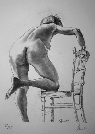 Lithographie Bonabel - Louis-Ferdinand Céline - Nu Feminin / Female Nude - 1938