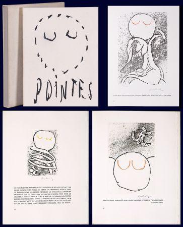 Livre Illustré Alechinsky - Louis Scutenaire et Pierre ALechinsky : POINTES (17 gravures monogrammées) 1972.