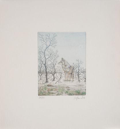 Eau-Forte Hauck - Loup - Wolf