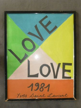 Affiche Saint Laurent - Love 1981