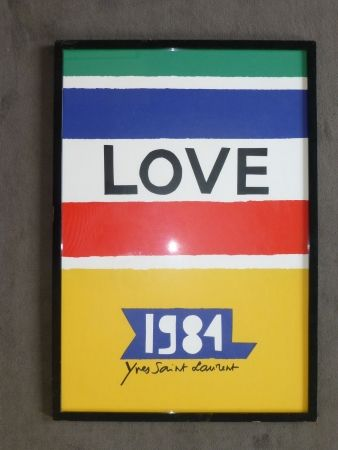 Affiche Saint Laurent - Love 1984