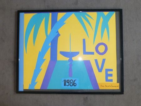 Affiche Saint Laurent - Love 1986