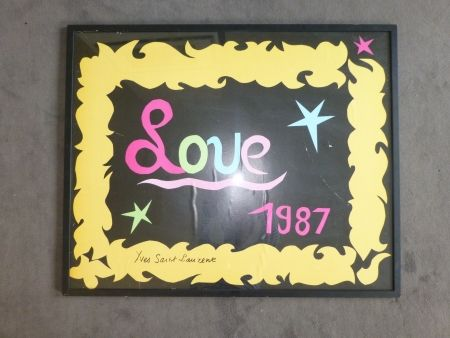 Affiche Saint Laurent - Love 1987