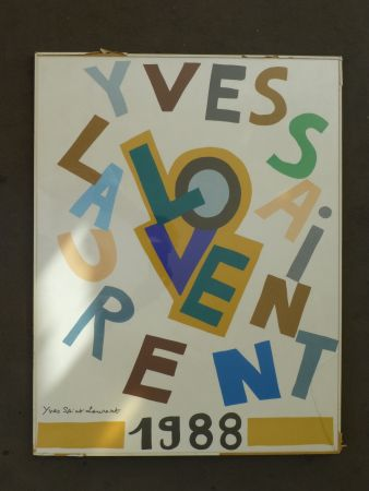 Affiche Saint Laurent - Love 1988