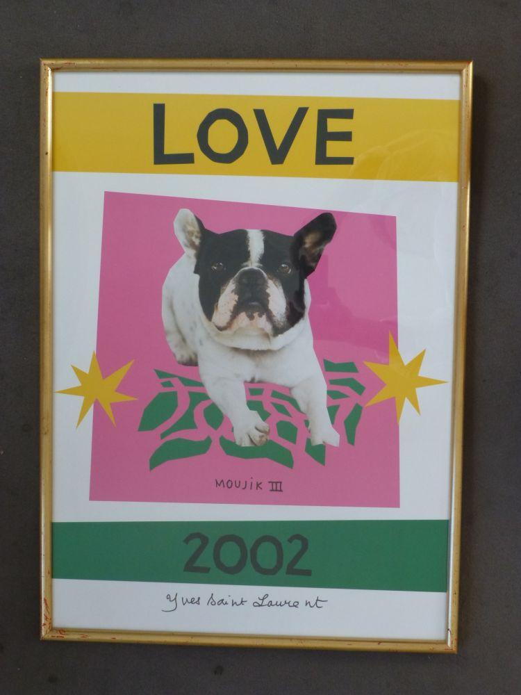 Affiche Saint Laurent - Love 2002