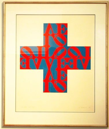 Lithographie Indiana - Love Cross