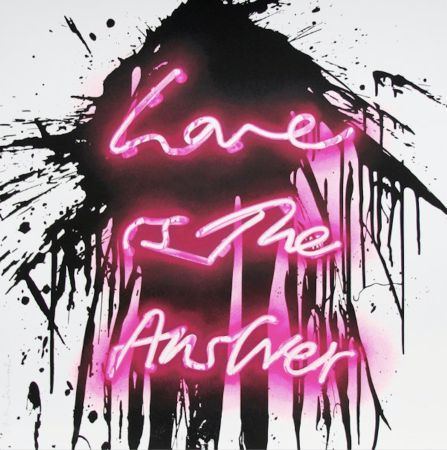 Sérigraphie Mr Brainwash - Love is the answer