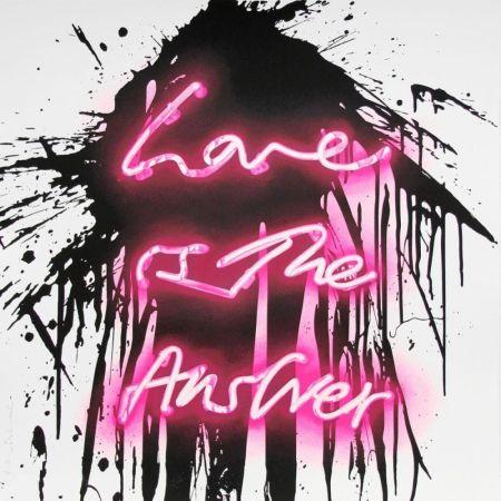 Sérigraphie Mr Brainwash - Love on