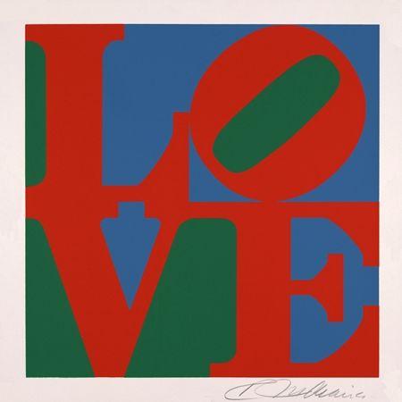 Sérigraphie Indiana - Love vert rouge