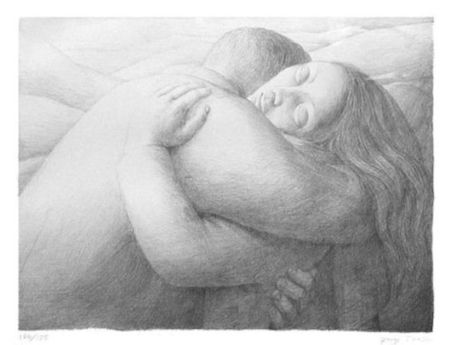 Lithographie Tooker - Lovers