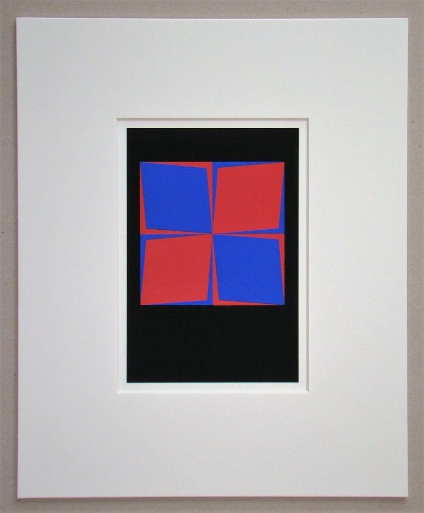 Sérigraphie Vasarely - Lozan, 1964