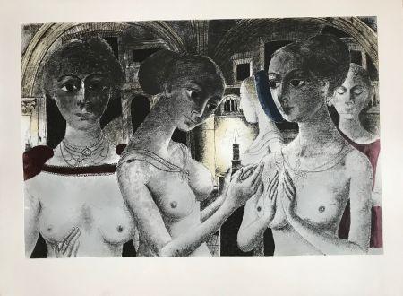 Sérigraphie Delvaux - Ls Gothiques