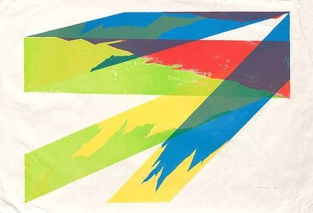 Lithographie Dorazio - Luceombra