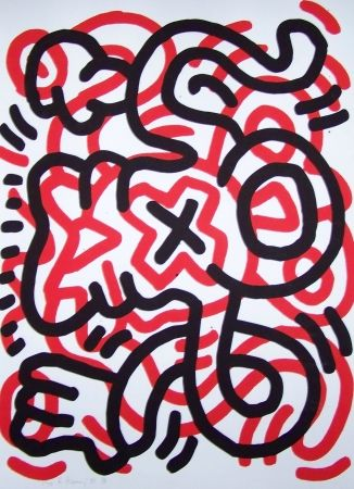 Lithographie Haring - Ludo
